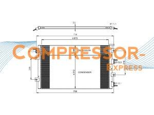 Chrysler-Dodge-Condenser-CO322